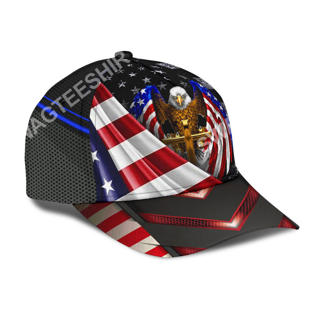 independence day one nation under God all over printed classic cap 2(1)