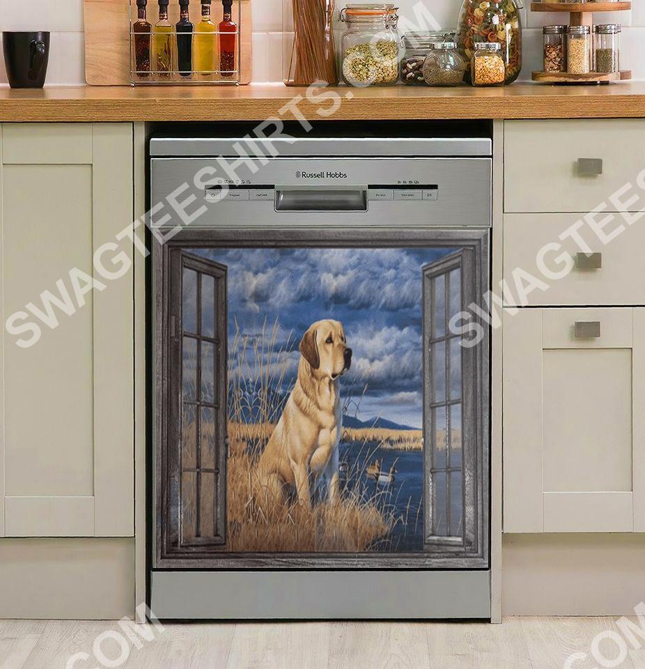 labrador lover kitchen decorative dishwasher magnet cover 2