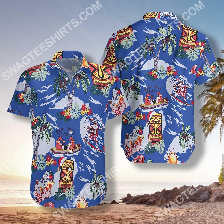 merry christmas santa claus all over printed hawaiian shirt 2(1)