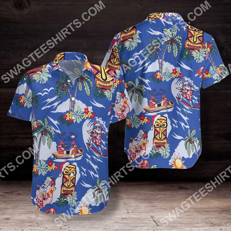merry christmas santa claus all over printed hawaiian shirt 3(1)