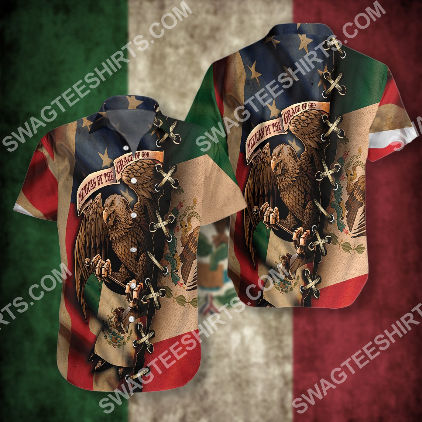mexican and american flag all over printed hawaiian shirt 3(1)