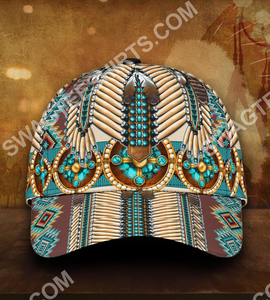 native american symbol all over printed classic cap 5(1)