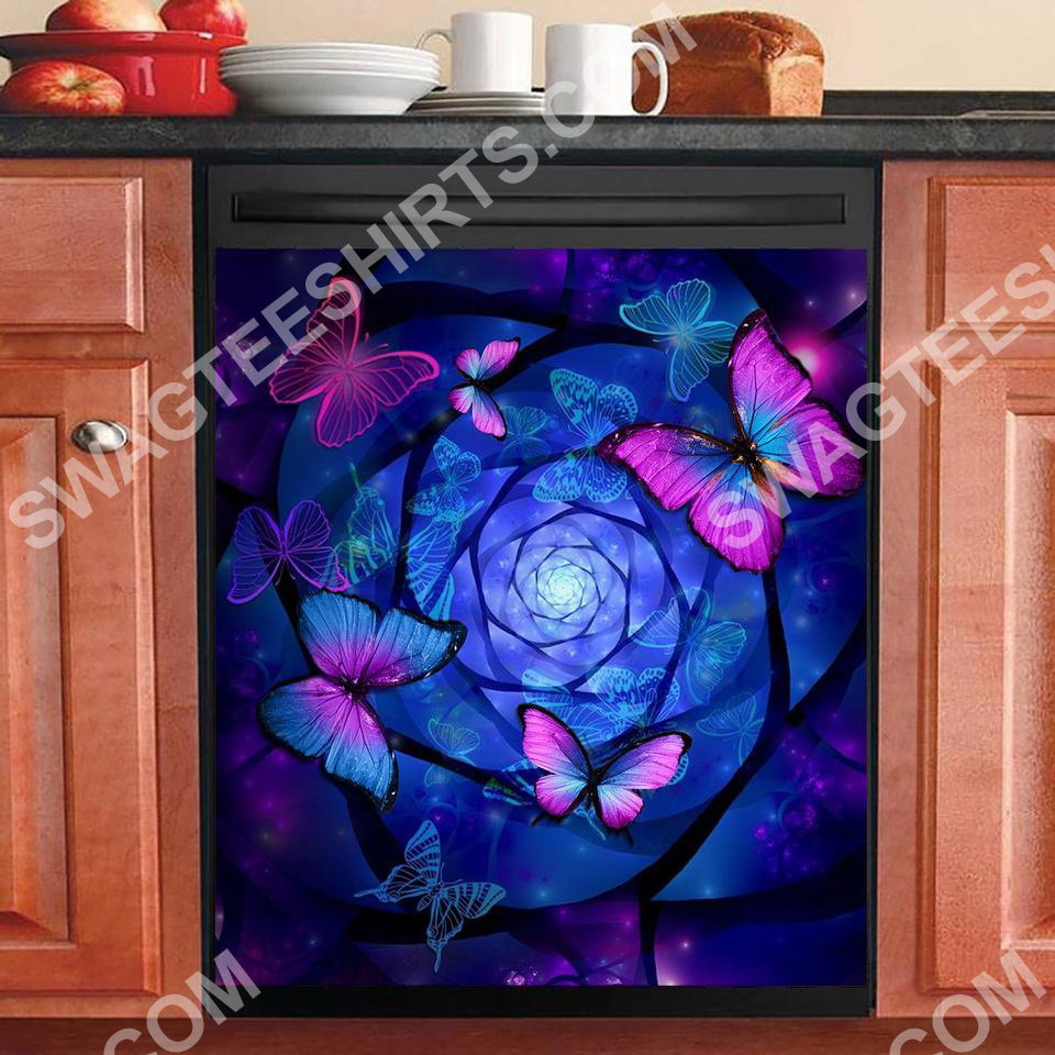 night butterfly kitchen decorative dishwasher magnet cover 2