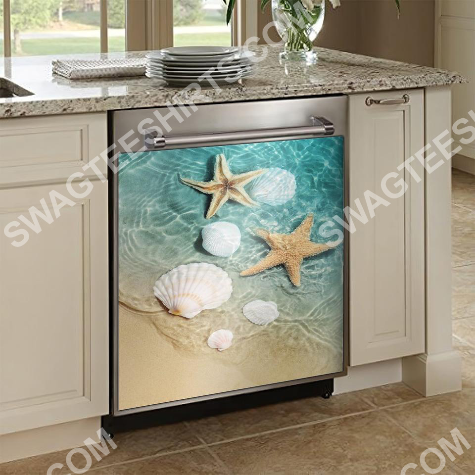 ocean starfish kitchen decorative dishwasher magnet cover 2