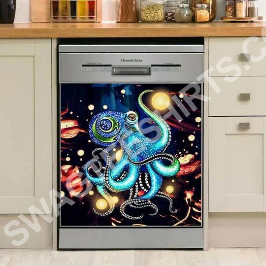 octopus colorful kitchen decorative dishwasher magnet cover 2