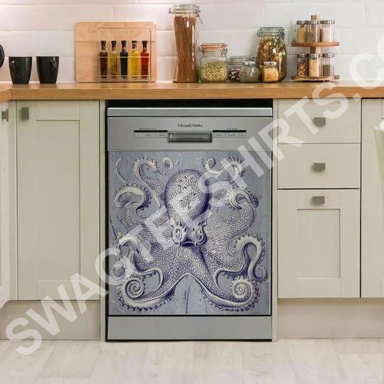 octopus kitchen decorative dishwasher magnet cover - Copy - Copy