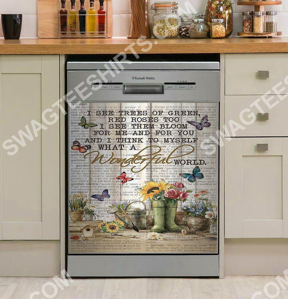 pallet garden flower kitchen decorative dishwasher magnet cover - Copy
