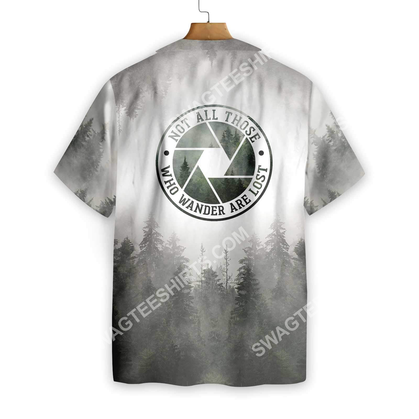 photography not all those who wander are lost forest all over printed hawaiian shirt 2(1)