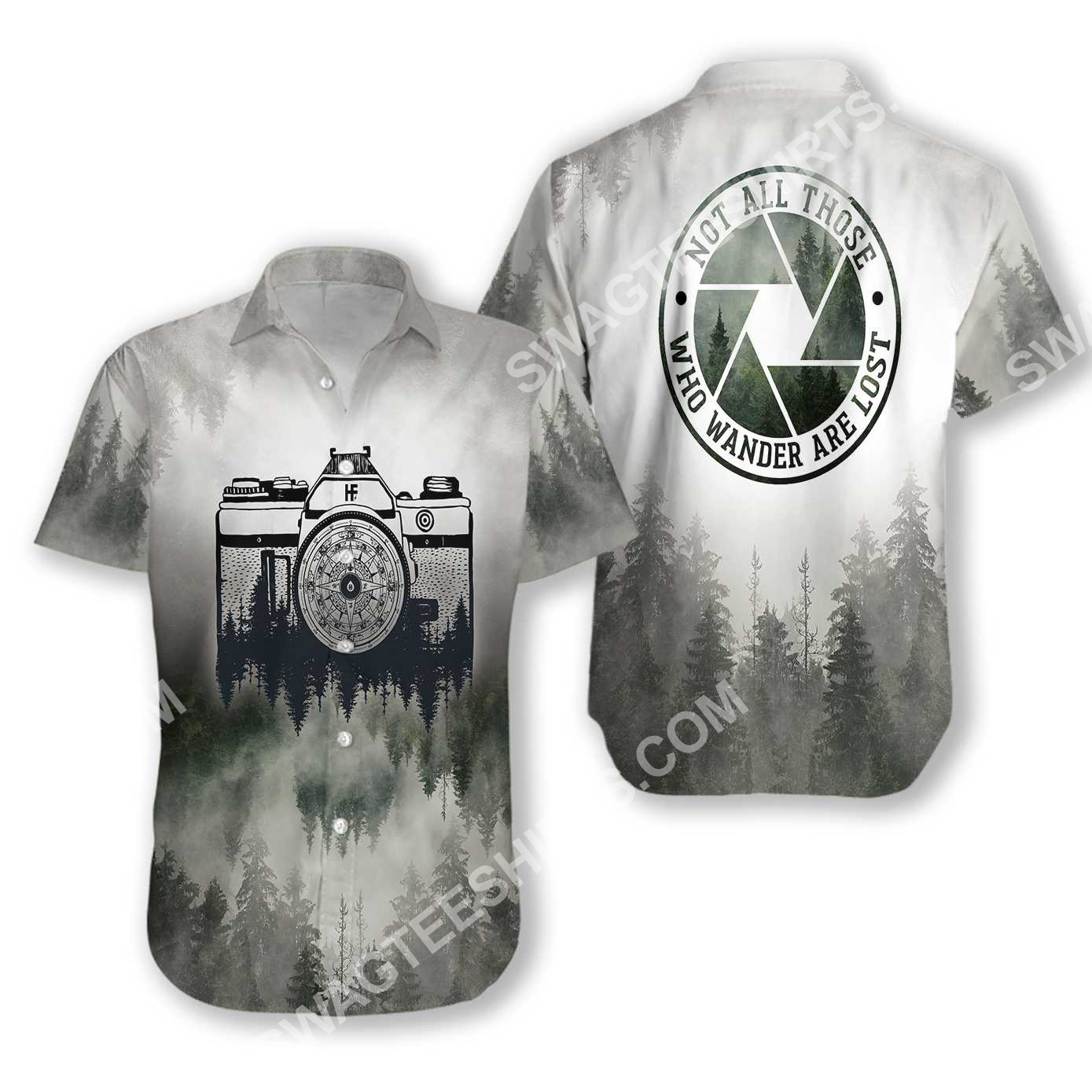 photography not all those who wander are lost forest all over printed hawaiian shirt 3(1)