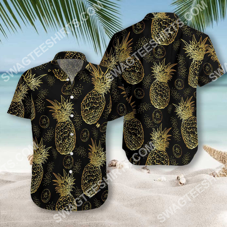 pineapple pattern all over printed hawaiian shirt 2(1)