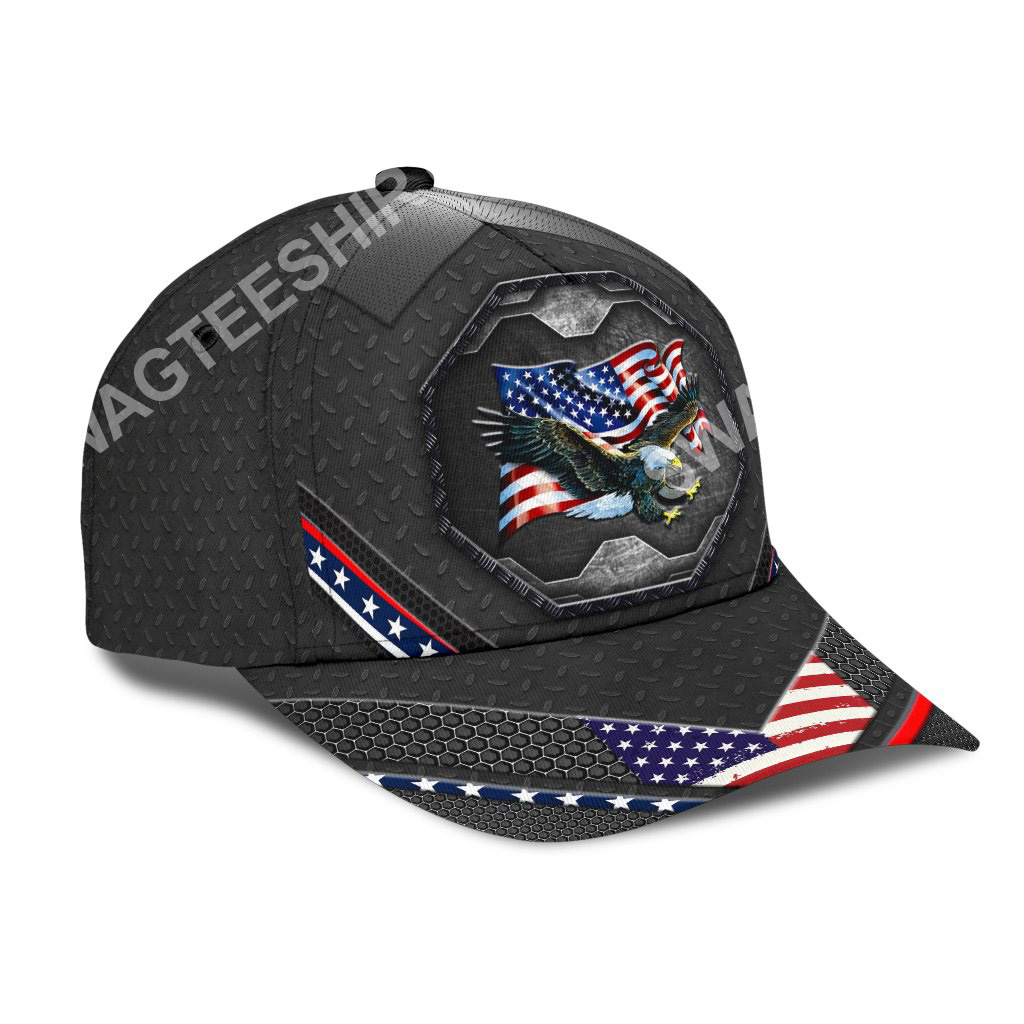 proud american eagle 4th july all over printed classic cap 2(1)