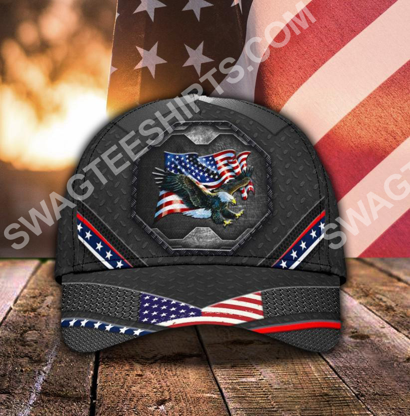 proud american eagle 4th july all over printed classic cap 5(1)