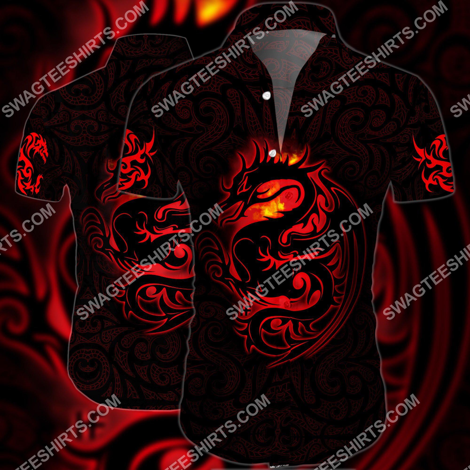 red dragon tattoo art all over printed hawaiian shirt 2(1) - Copy