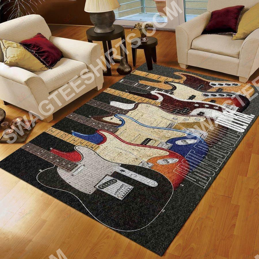 retro guitar lover all over printed rug 2(1)