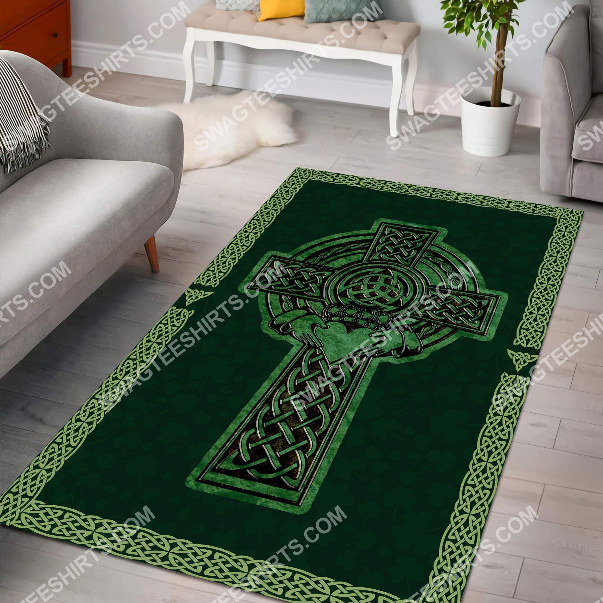 saint patrick's day cross all over printed rug 2(1)