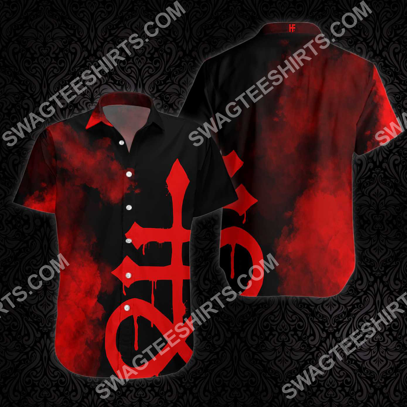 satanic goth gothic all over printed hawaiian shirt 3(1) - Copy