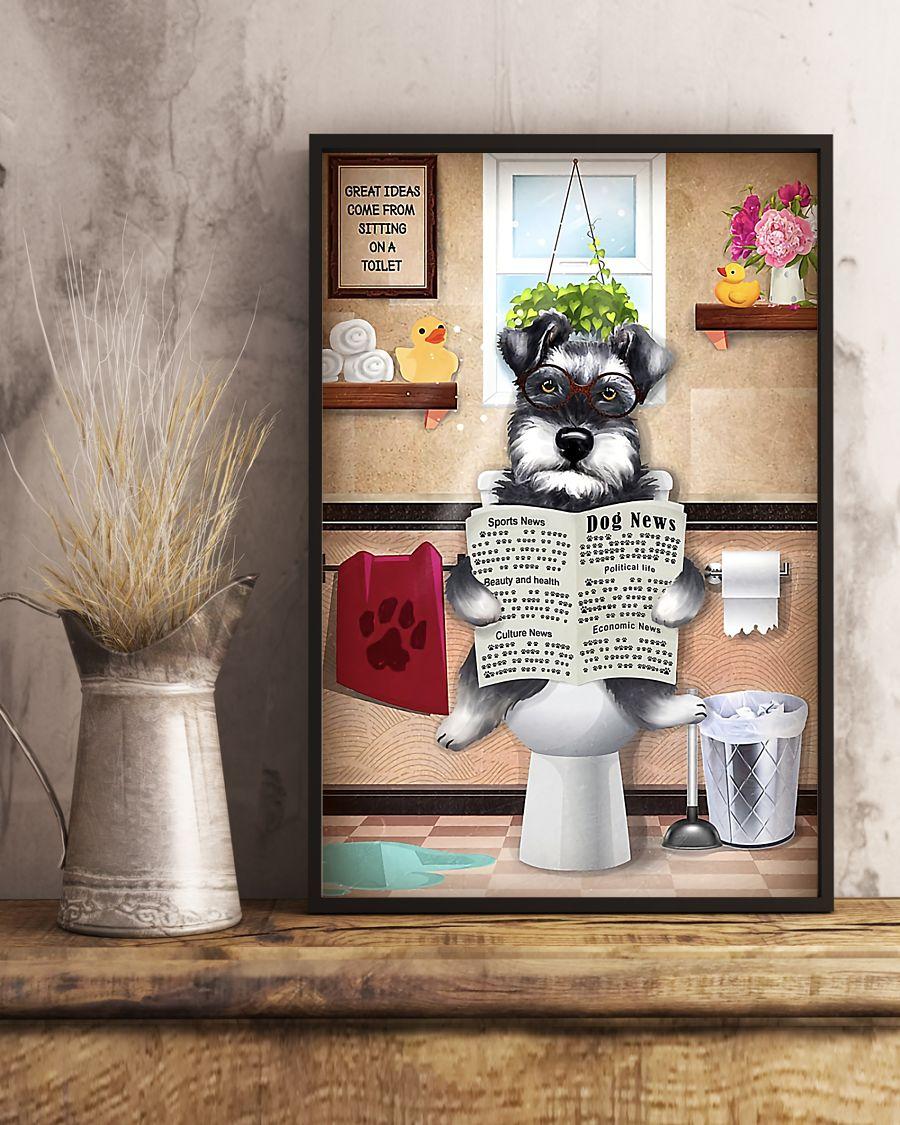 schnauzer sitting on toilet great ideas poster 5