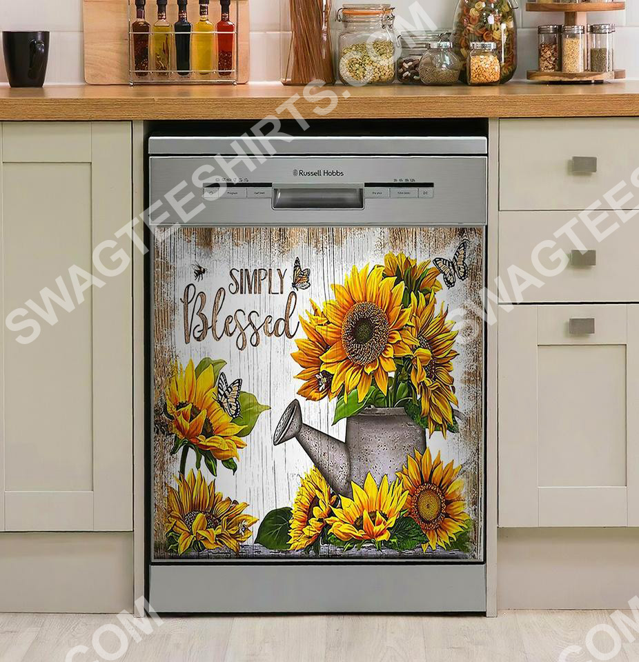 simply blessed sunflower kitchen decorative dishwasher magnet cover 2 - Copy