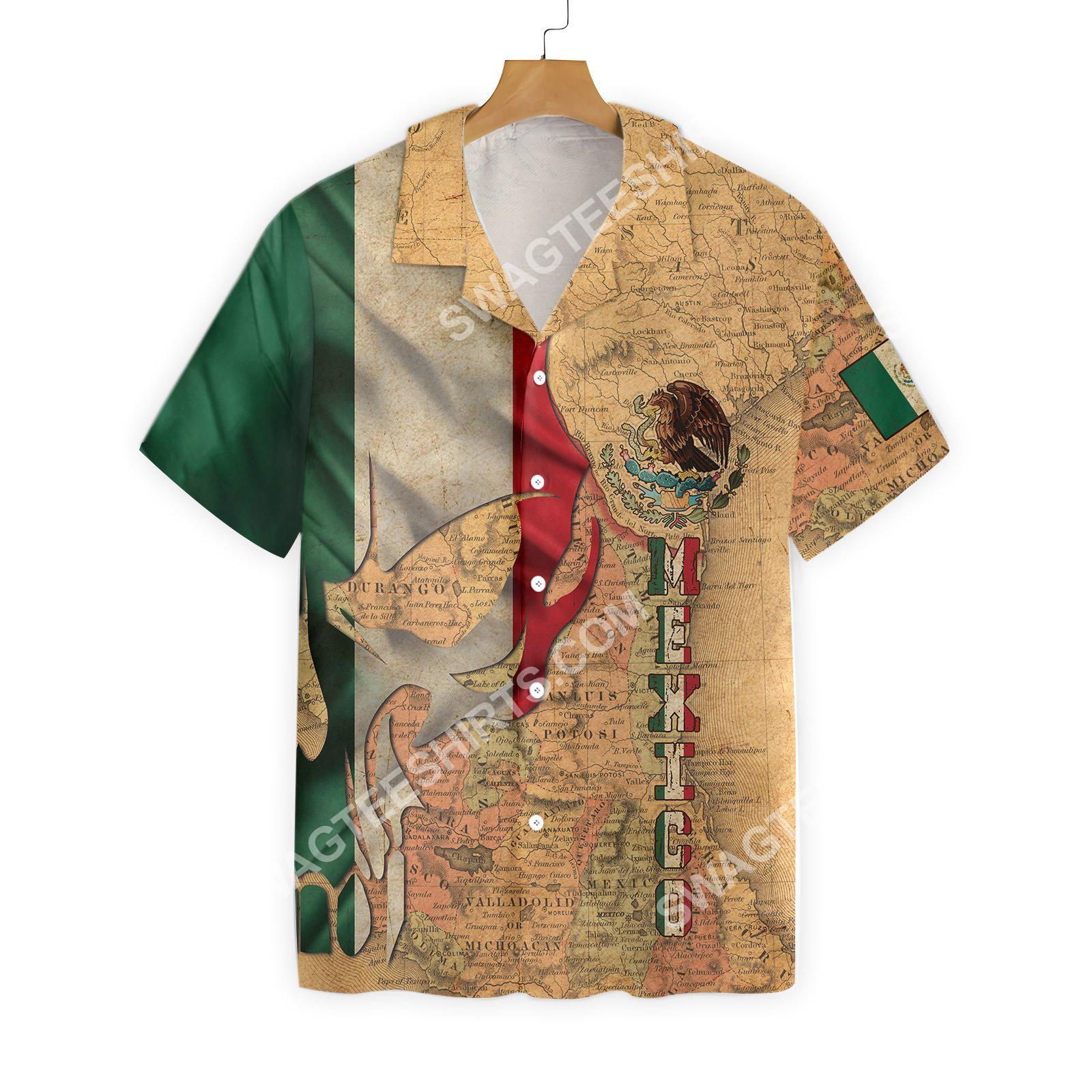 skull mexico map all over printed hawaiian shirt 2(1)