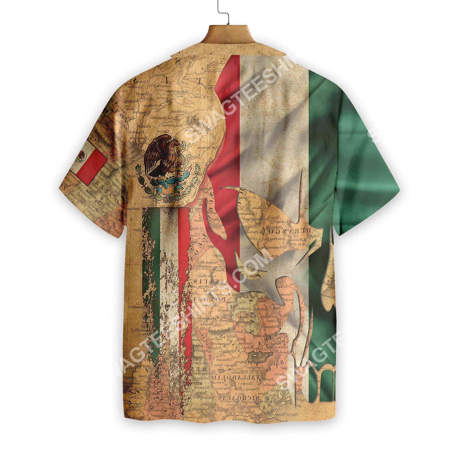 skull mexico map all over printed hawaiian shirt 3(1)