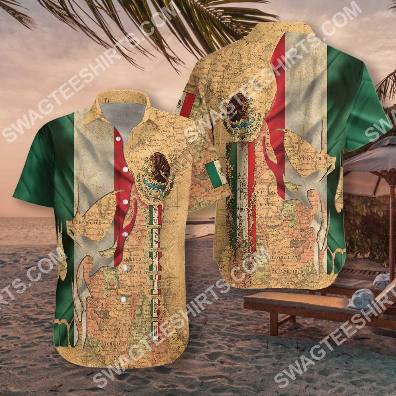 skull mexico map all over printed hawaiian shirt 4(1)