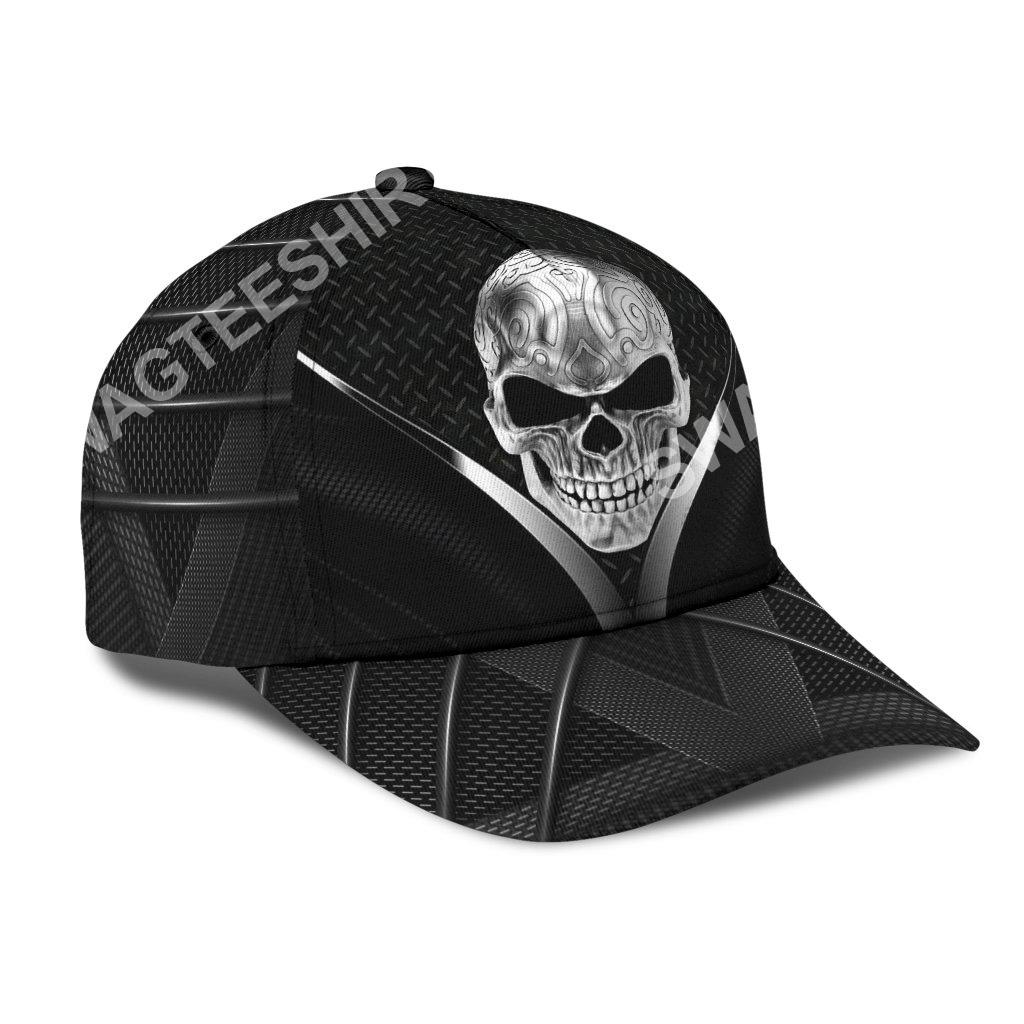 sugar skull metal all over printed classic cap 2(1)