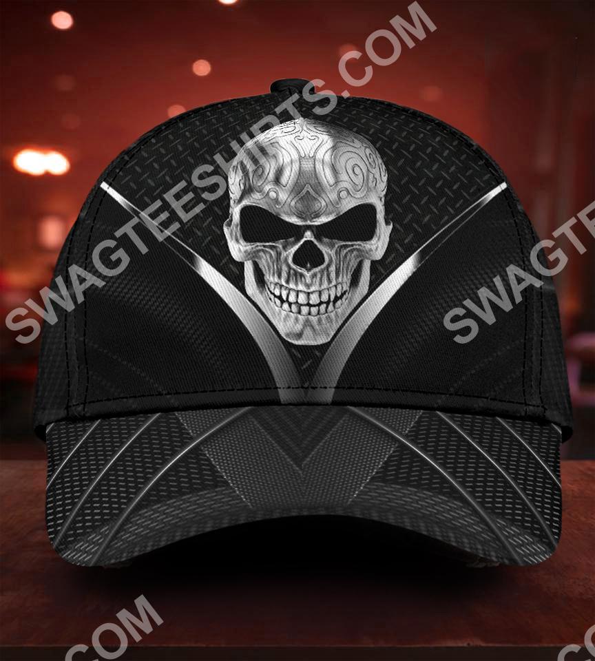 sugar skull metal all over printed classic cap 5(1)