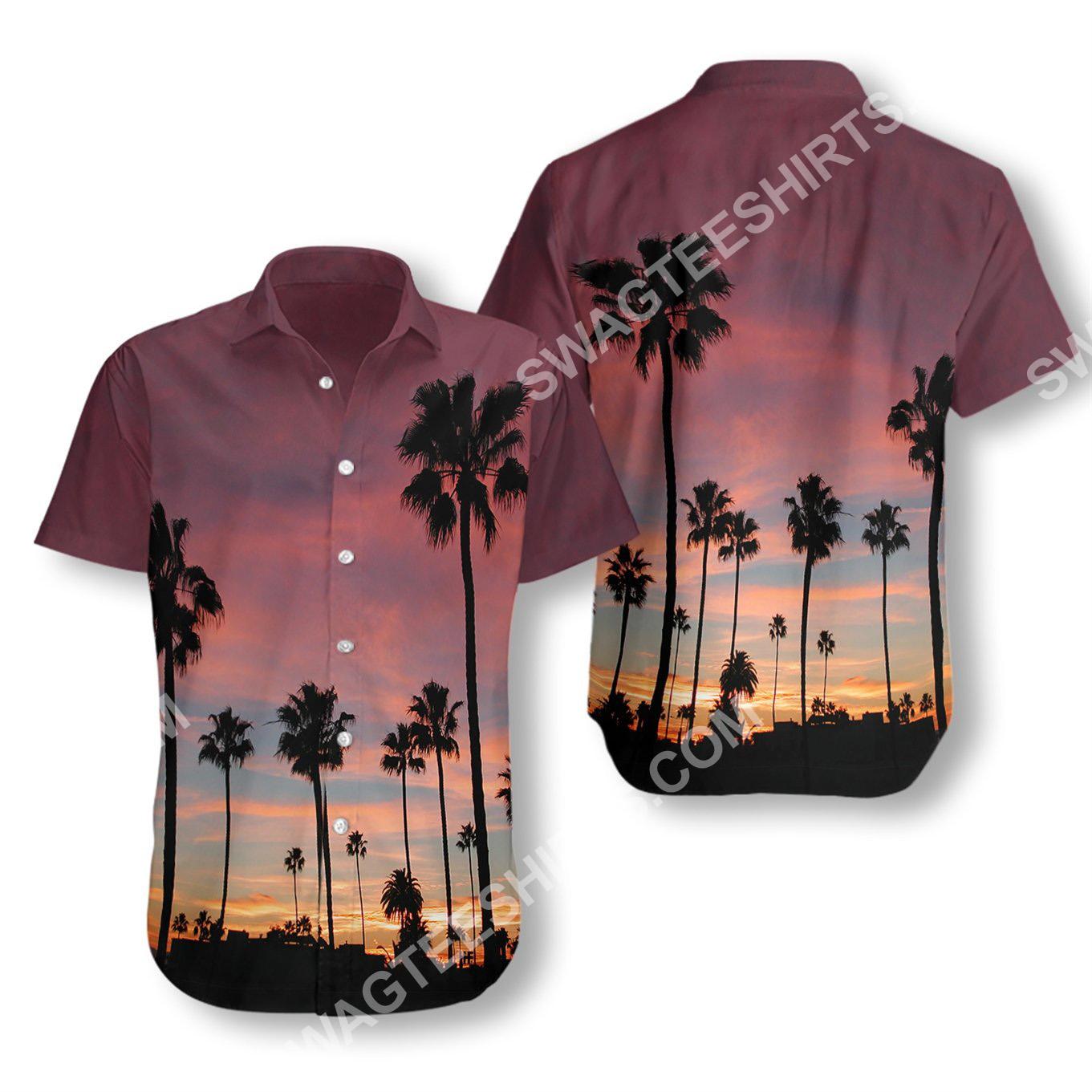 sunset venice beach all over printed hawaiian shirt 2(1)