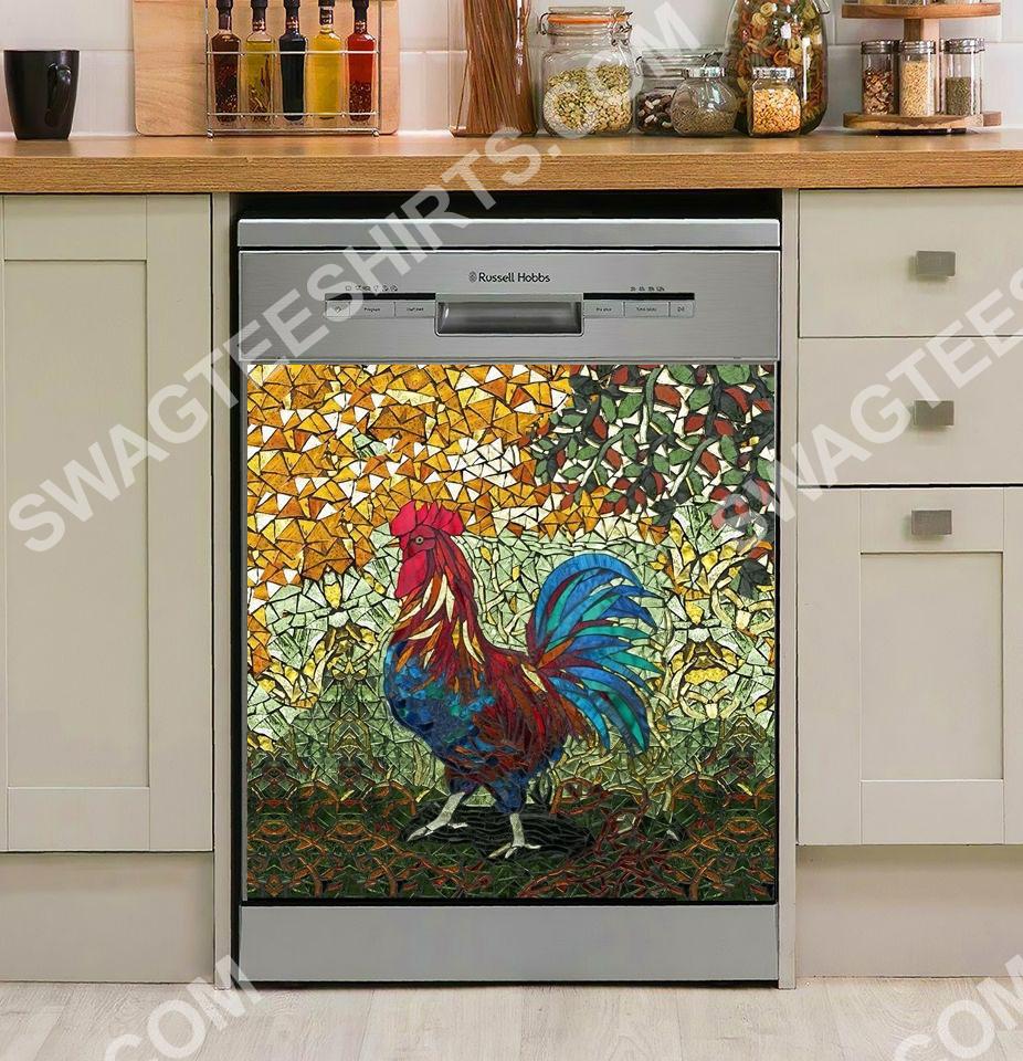 the chicken vintage kitchen decorative dishwasher magnet cover 2