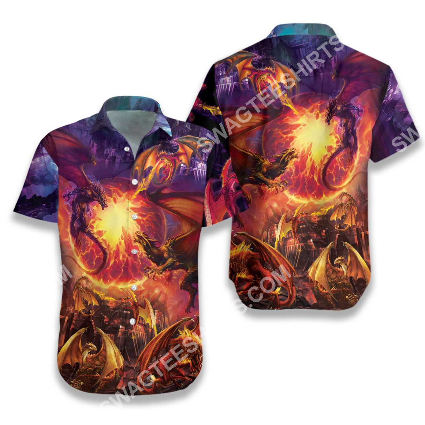 the dragon and fire all over printed hawaiian shirt 2(1)