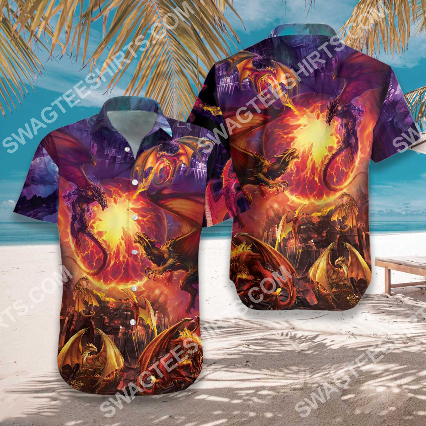 the dragon and fire all over printed hawaiian shirt 3(1) - Copy