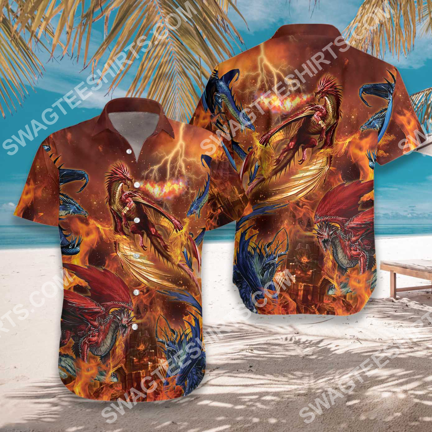 the fire dragons all over printed hawaiian shirt 3(1) - Copy