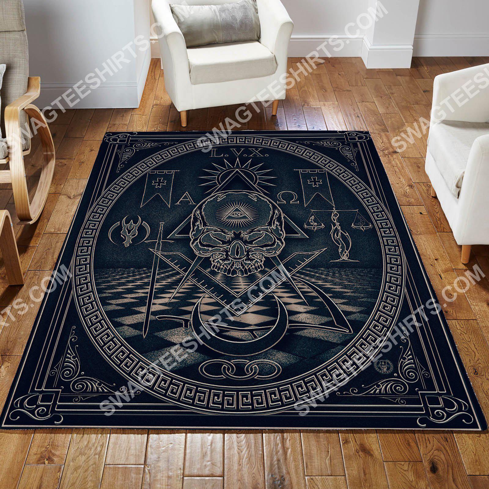 the freemasonry logo all over printed rug 2(1)