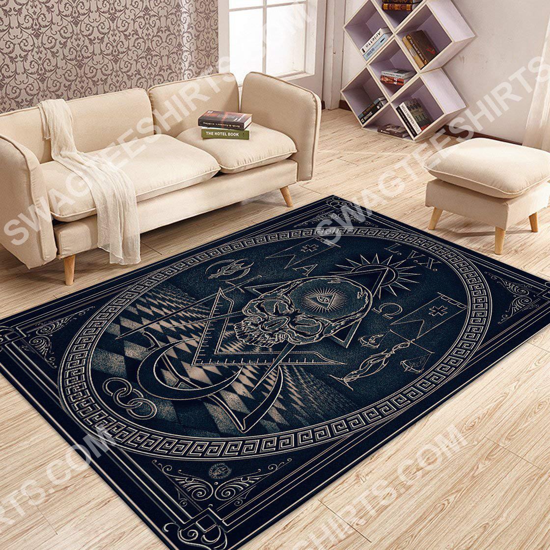 the freemasonry logo all over printed rug 3(1)