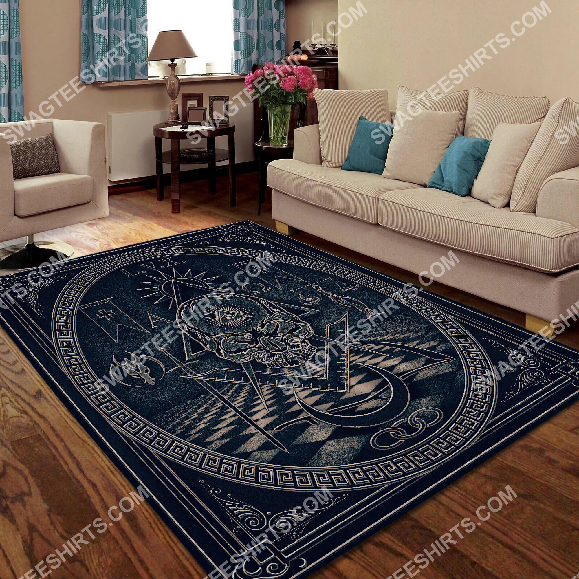 the freemasonry logo all over printed rug 4(1)