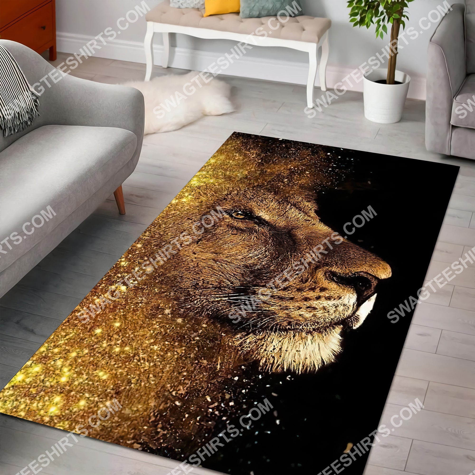 the golden lion all over printed rug 2(1)