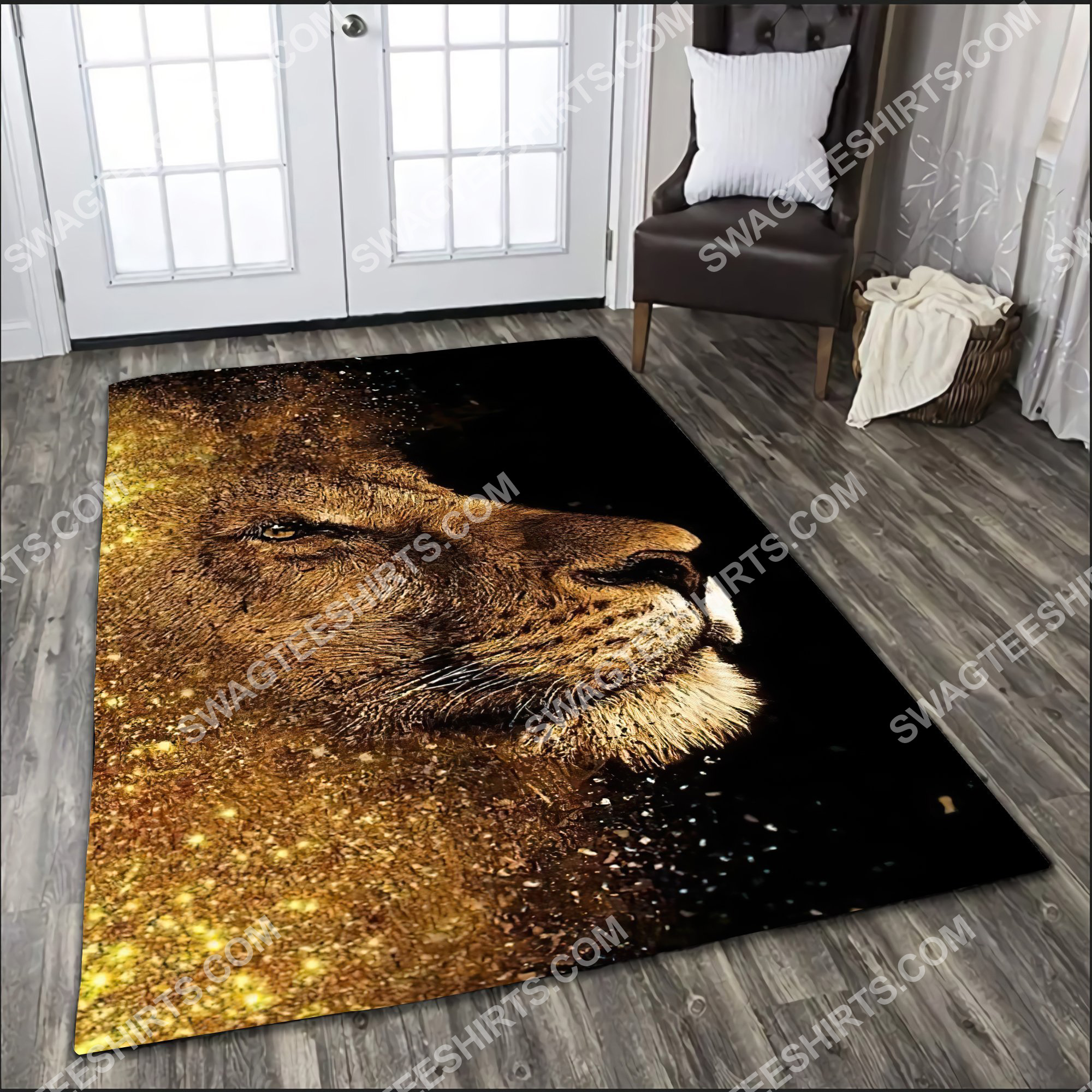 the golden lion all over printed rug 3(1)