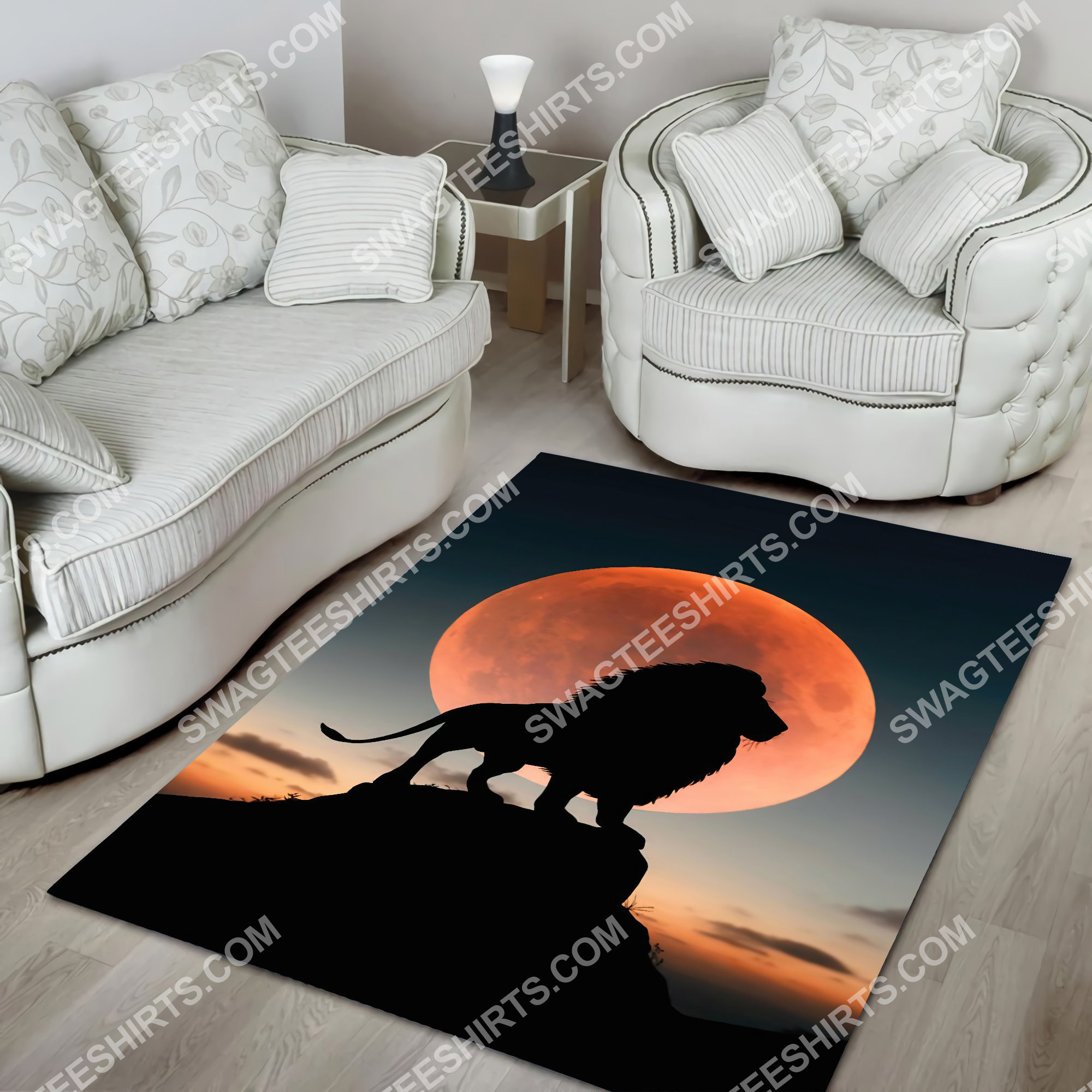 the lion in sunset all over printed rug 3(1)
