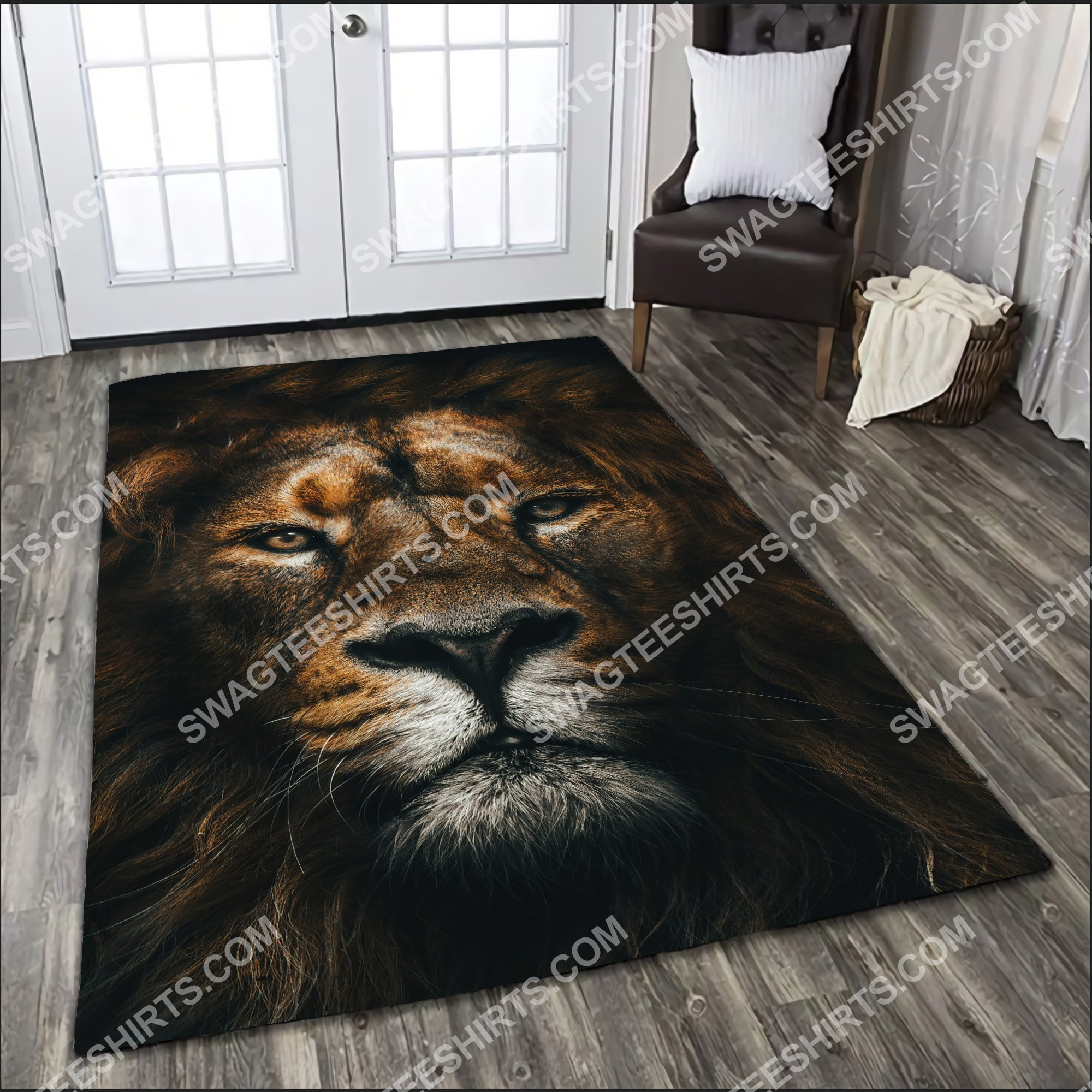 the lion retro all over printed rug 2(1)