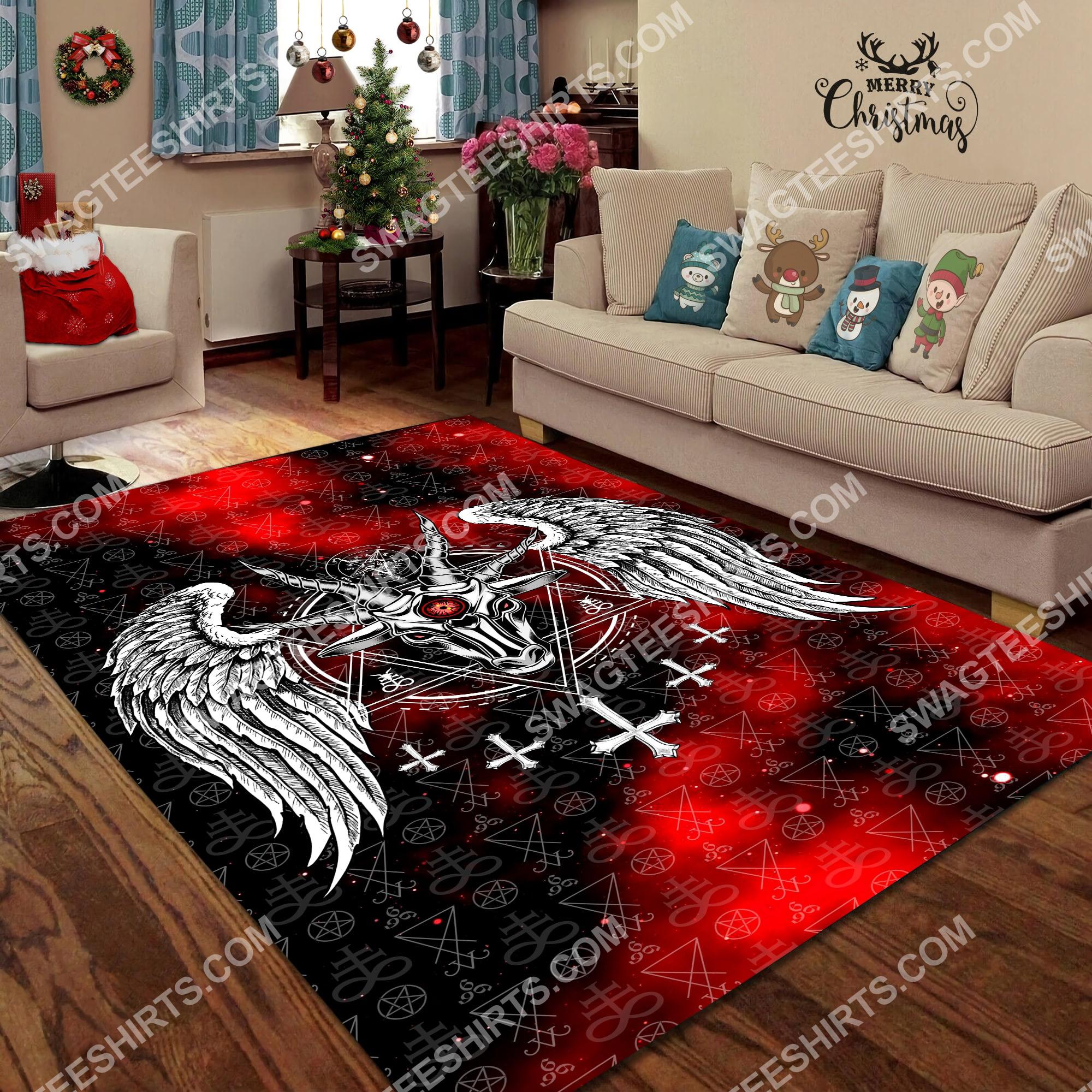the satanic symbol all over printed rug 2(1)