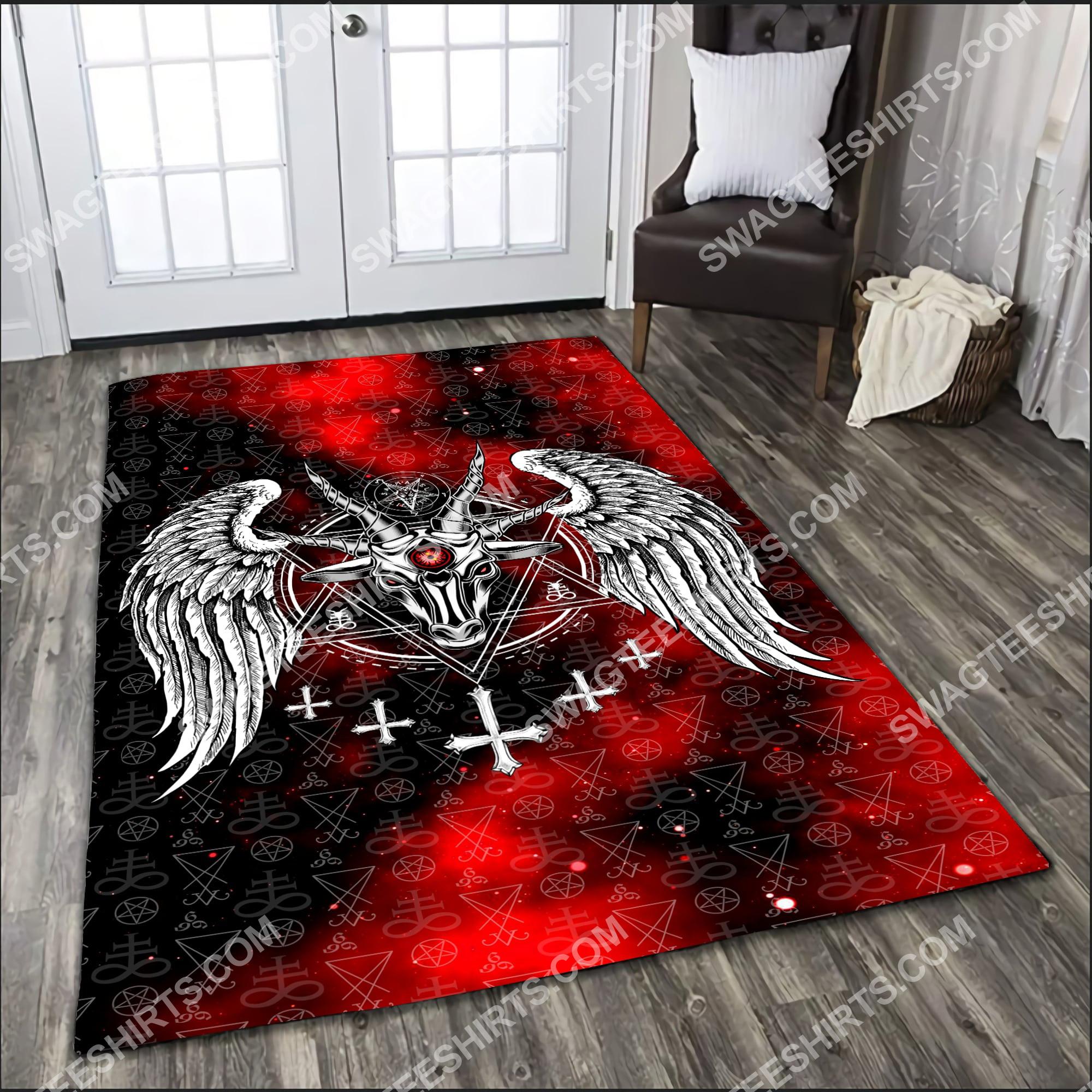 the satanic symbol all over printed rug 3(1) - Copy