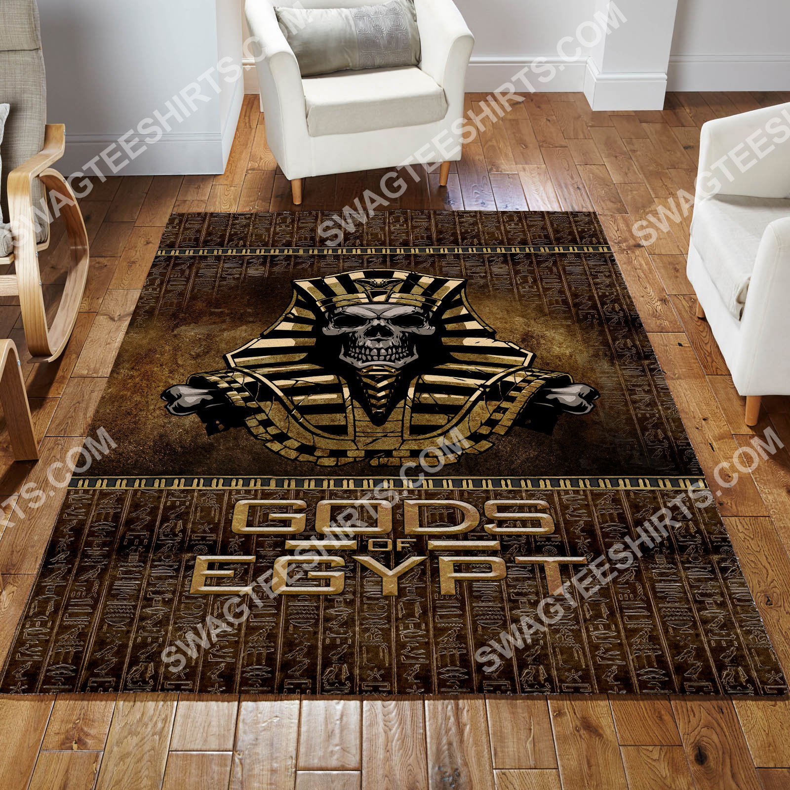 the skull Gods of egypt culture all over printed rug 2(1)