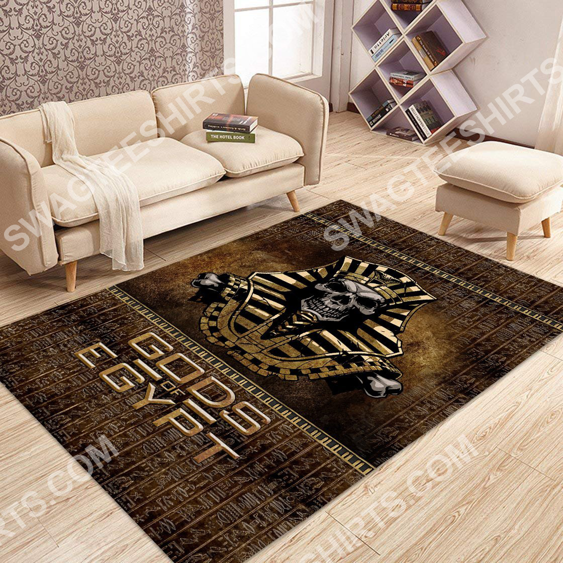the skull Gods of egypt culture all over printed rug 3(1)