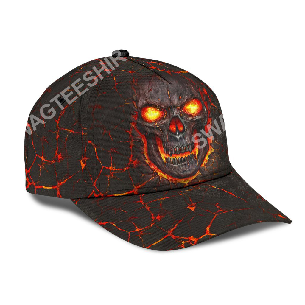 the skull fire all over printed classic cap 2(1)