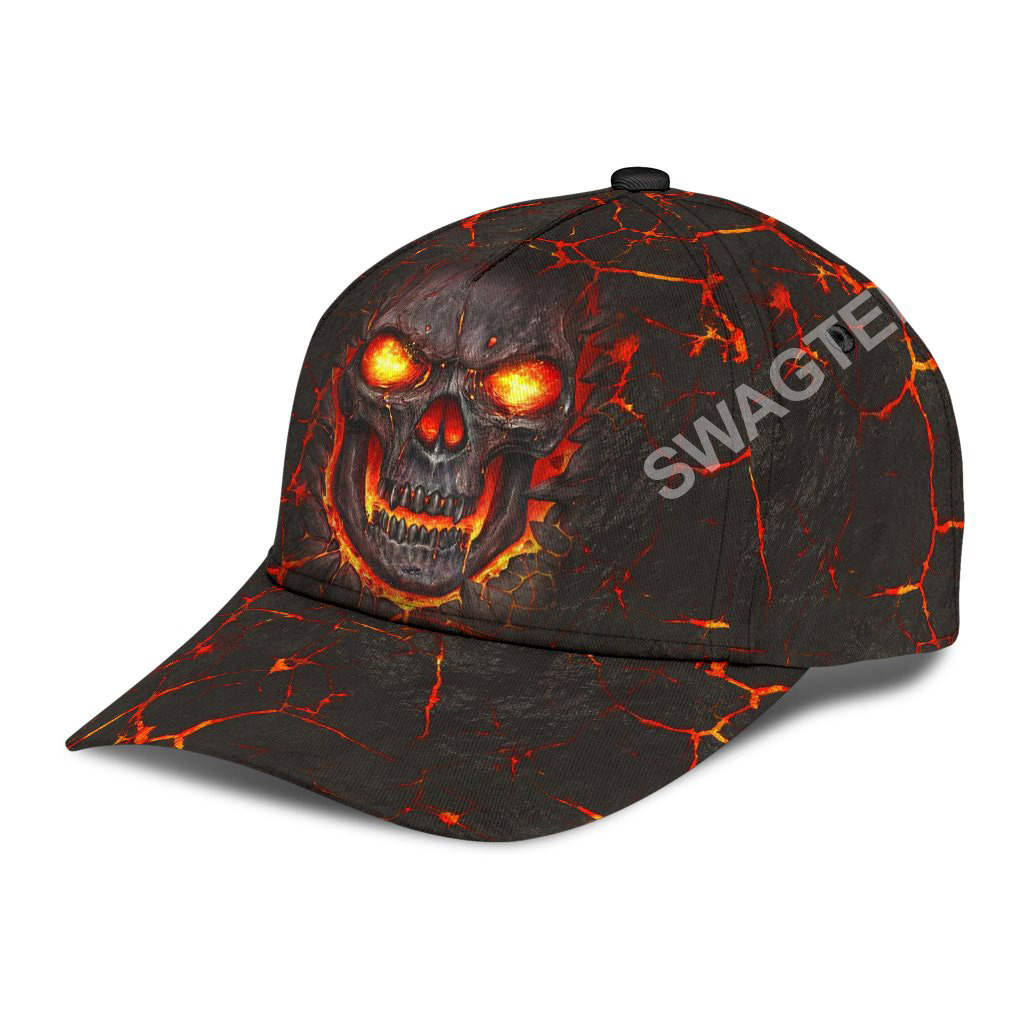 the skull fire all over printed classic cap 3(1)