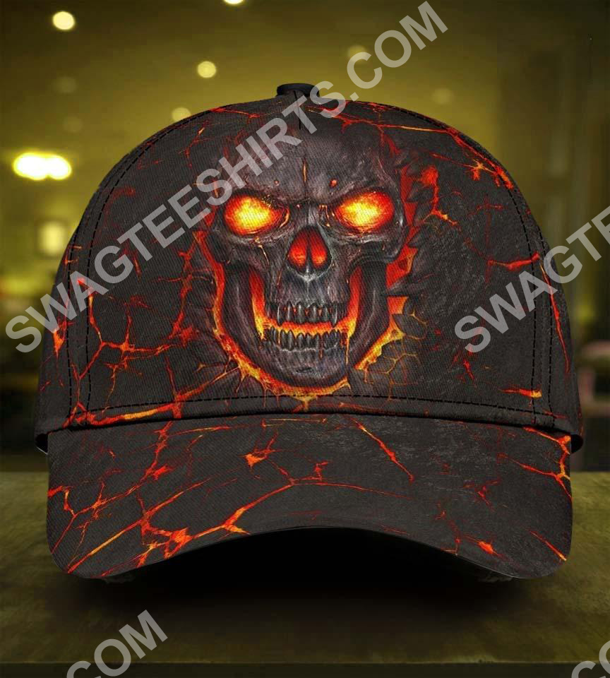 the skull fire all over printed classic cap 5(1)