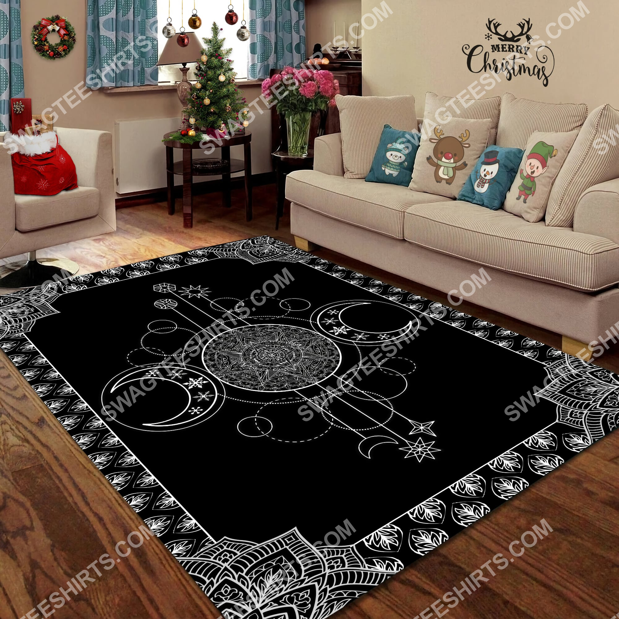 the wiccan art all over printed rug 2(1)