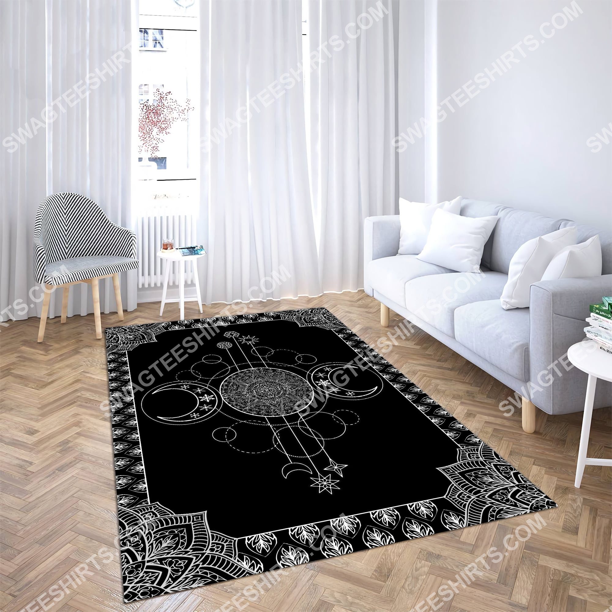 the wiccan art all over printed rug 3(1)