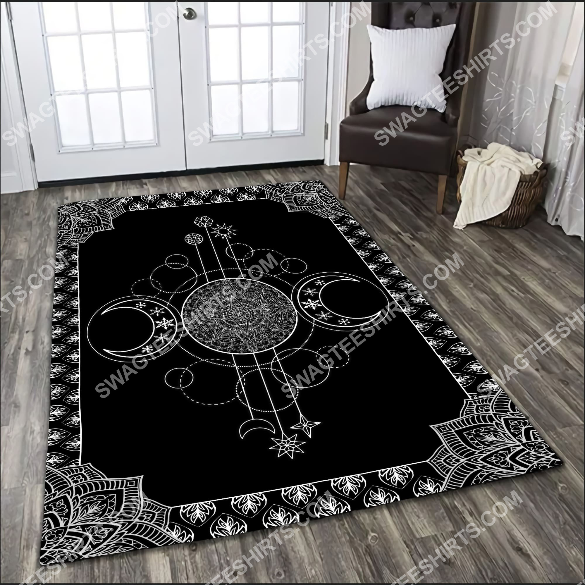 the wiccan art all over printed rug 4(1)