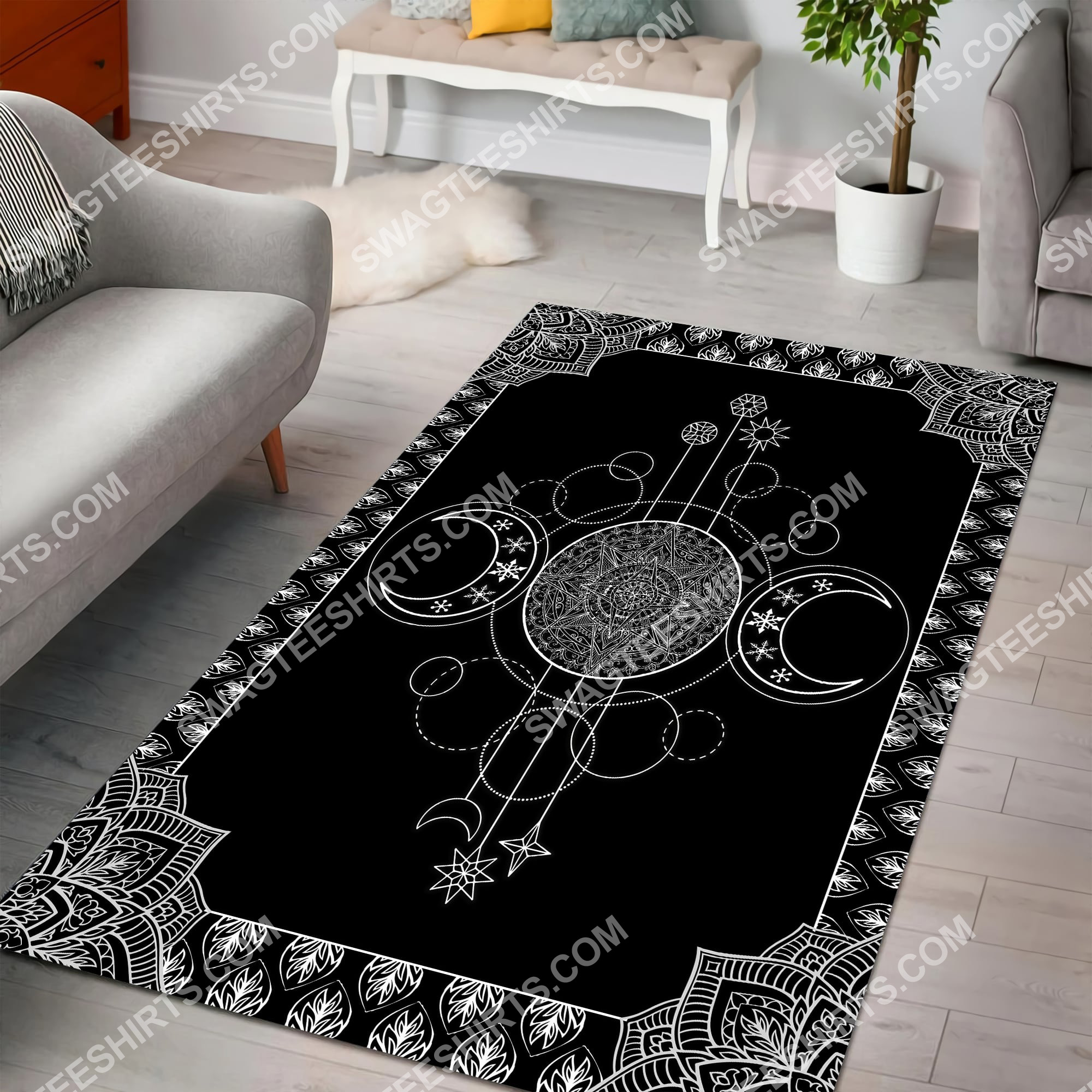 the wiccan art all over printed rug 5(1)